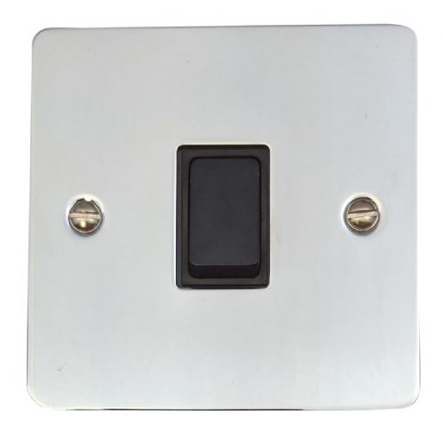 G&H FC1B Flat Plate Polished Chrome 1 Gang 1 or 2 Way Rocker Light Switch